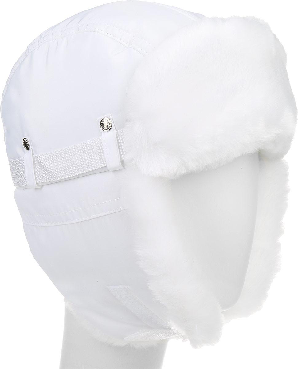 Шапка-ушанка детская Ёмаё, цвет: белый. 51-900. Размер 48/5051-900Теплая детская шапка-ушанка Ёмаё выполнена из высококачественного полиэстера с подкладкой из полиэстера. На ушках модель дополнена хлястиком на липучке он позволяет зафиксировать модель под подбородком. Дополнено изделие отделкой из искусственного меха, а также декоративными хлястиками на металлических кнопках.Уважаемые клиенты! Обращаем ваше внимание на тот факт, что размер, доступный для заказа, является обхватом головы.