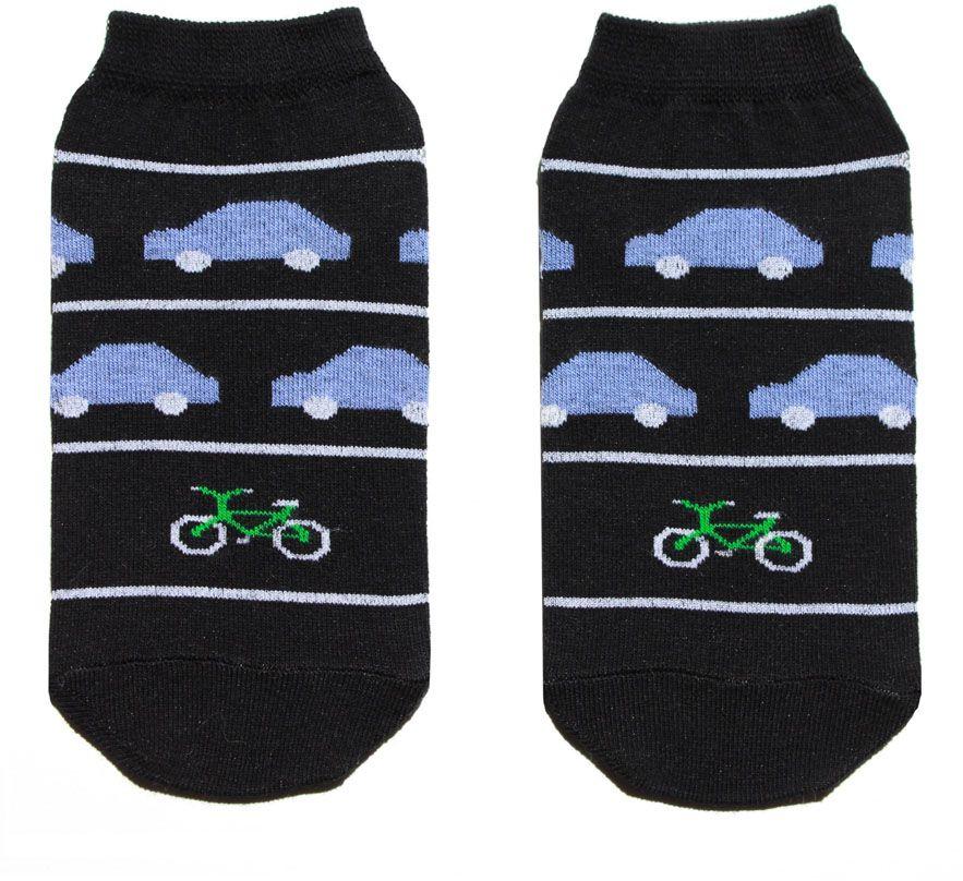 Носки женские Big Bang Socks, цвет: черный. p4122. Размер 35/39p4122Женский носки Big Bang Socks изготовлены из высококачественного хлопка с добавлением полиамидных и эластановых волокон, которые обеспечивают великолепную посадку.Удобная резинка идеально облегает ногу и не пережимает сосуды, а укороченный паголенок придает более эстетичный вид. Модель оформлена оригинальным принтом.