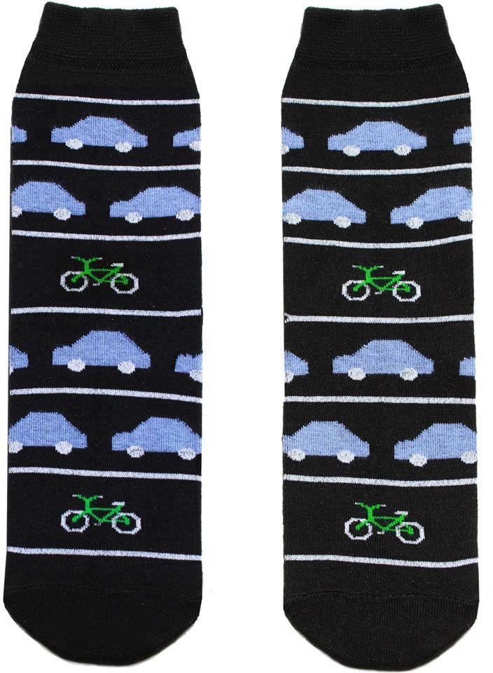 Носки мужские Big Bang Socks, цвет: черный. p4131. Размер 40/44p4131Мужские носки Big Bang Socks изготовлены из высококачественного хлопка с добавлением полиамидных и эластановых волокон, которые обеспечивают великолепную посадку.Удобная резинка идеально облегает ногу и не пережимает сосуды, а удлиненный паголенок придает более эстетичный вид. Модель оформлена оригинальным принтом.