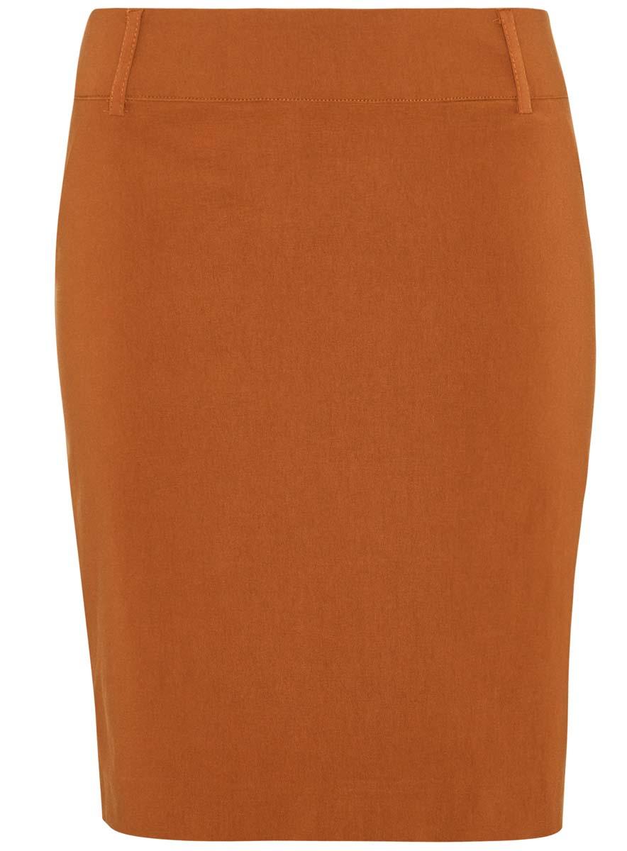 Юбка oodji Ultra, цвет: светло-коричневый. 11610003/14007/3100N. Размер 38 (44-170)11610003/14007/3100NЮбка oodji Ultra выполнена из качественного комбинированного материала. Модель-карандаш застегивается сбоку на потайную застежку-молнию. Выполнена юбка в лаконичном дизайне и дополнена в поясе шлевками для ремня.