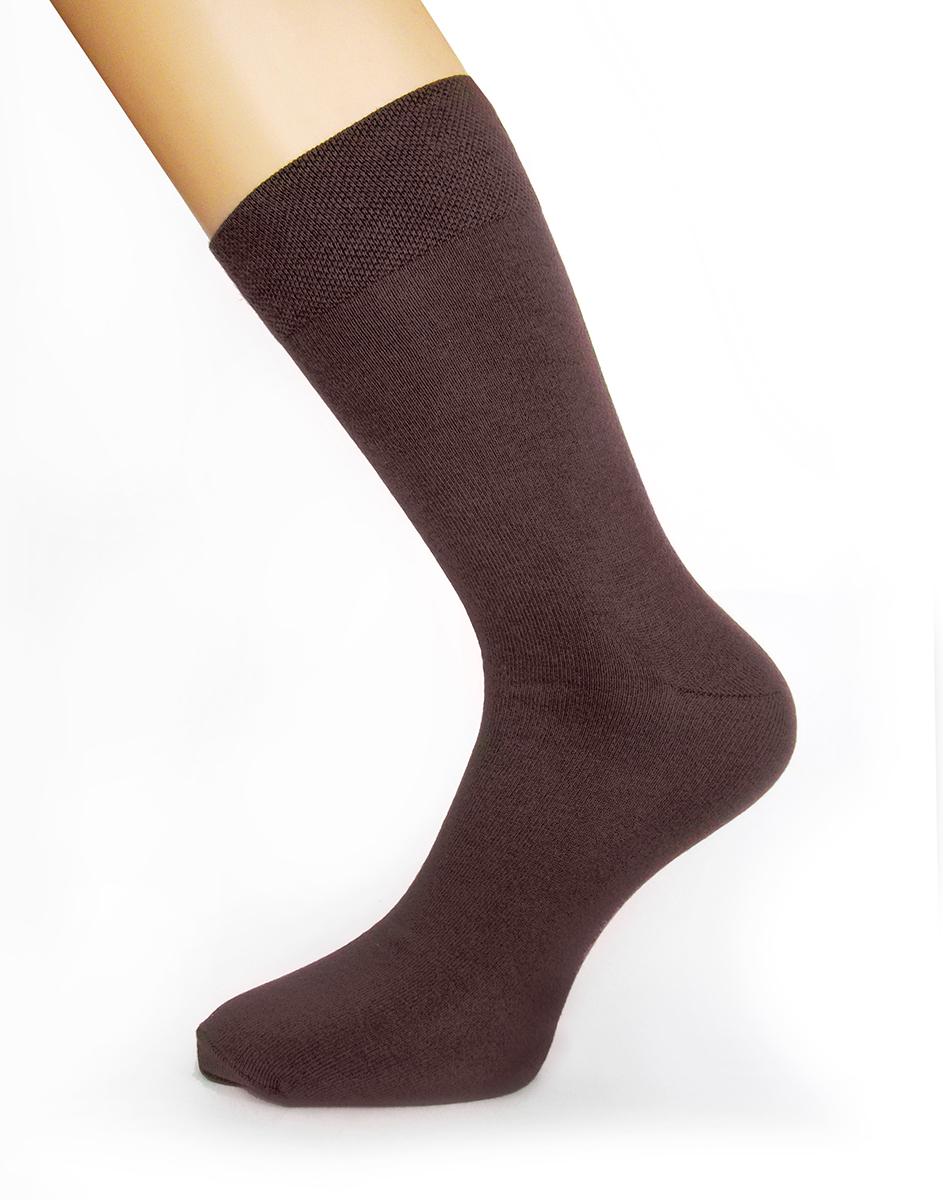 Носки мужские Touch Gold, цвет: шоколадный. 046. Размер 25/27046Стильные мужские носки Touch Gold изготовлены из лучших сортов длинноволокнистого хлопка с добавлением эластановых волокон, которые обеспечивают повышенную износостойкость и превосходную посадку. Модель со стандартным паголенком на широкой эластичной резинки оформлена в лаконичном дизайне.