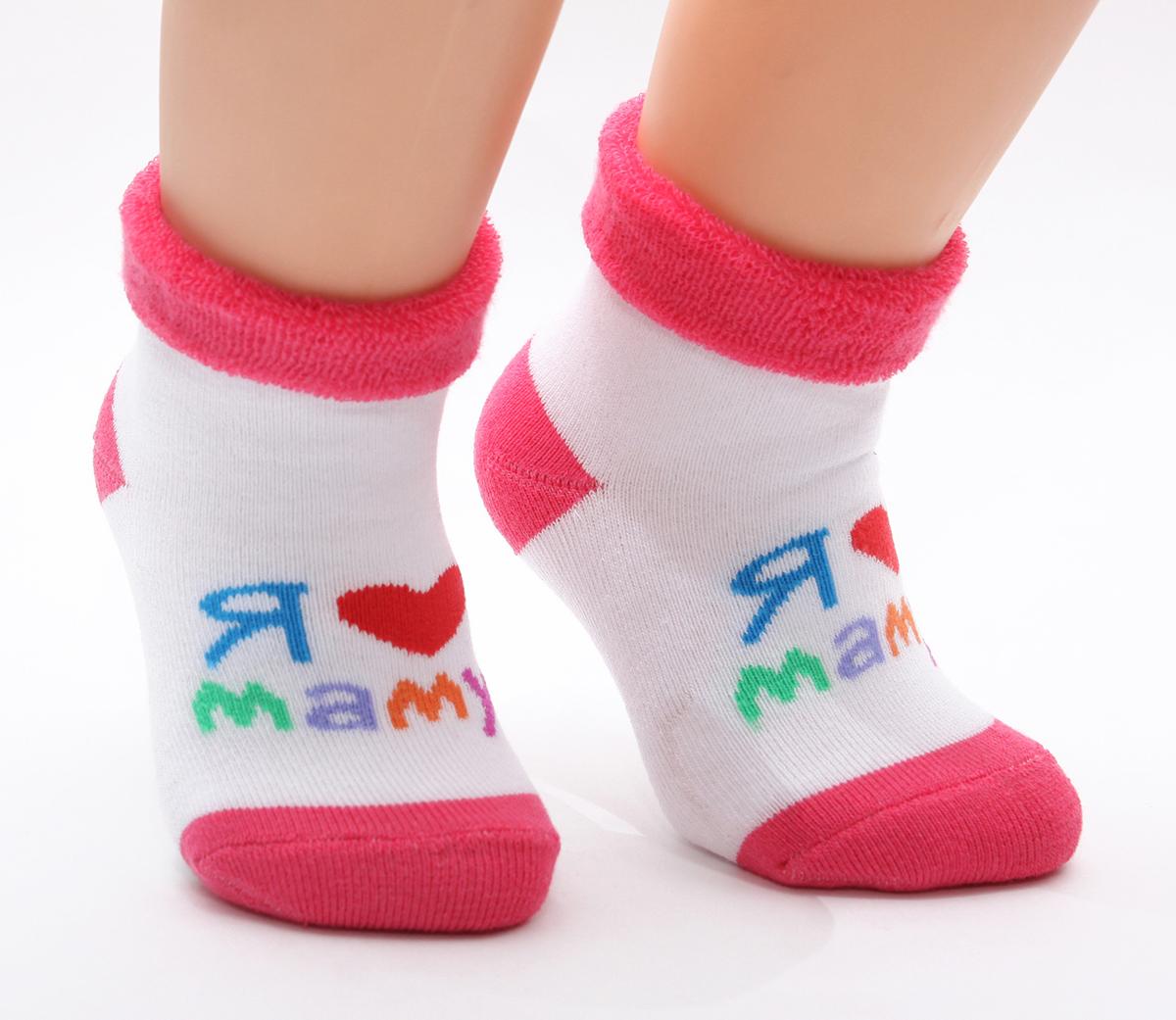 Носки детские Touch Gold, цвет: белый, красный. 126. Размер 0-12 месяцев126Махровые детские носочки изготовлены из высококачественного хлопка. Мягкая широкая резинка, не перетягивает ножку.