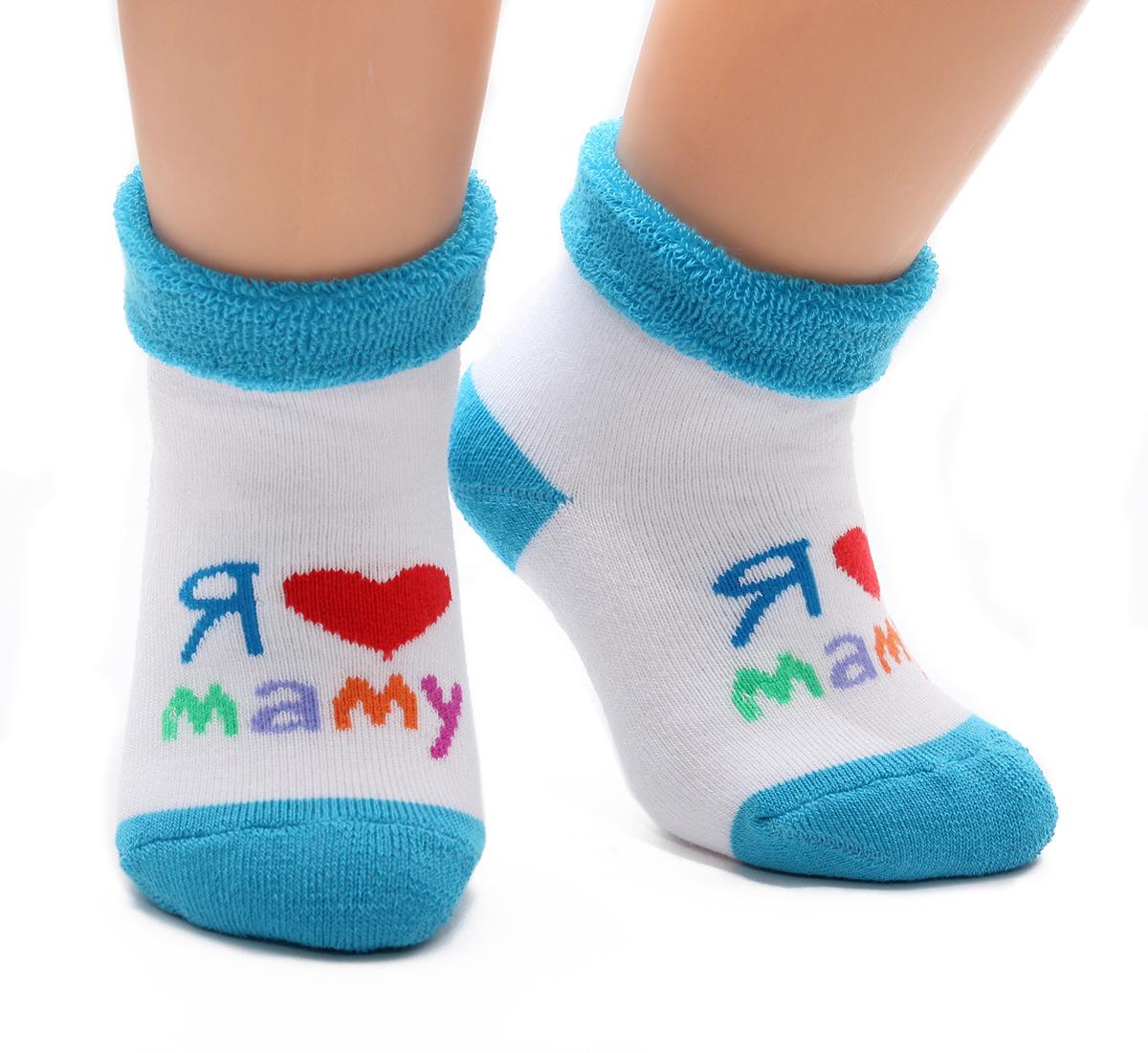 Носки детские Touch Gold, цвет: белый, синий. 126. Размер 0-12 месяцев126Махровые детские носочки изготовлены из высококачественного хлопка. Мягкая широкая резинка, не перетягивает ножку.