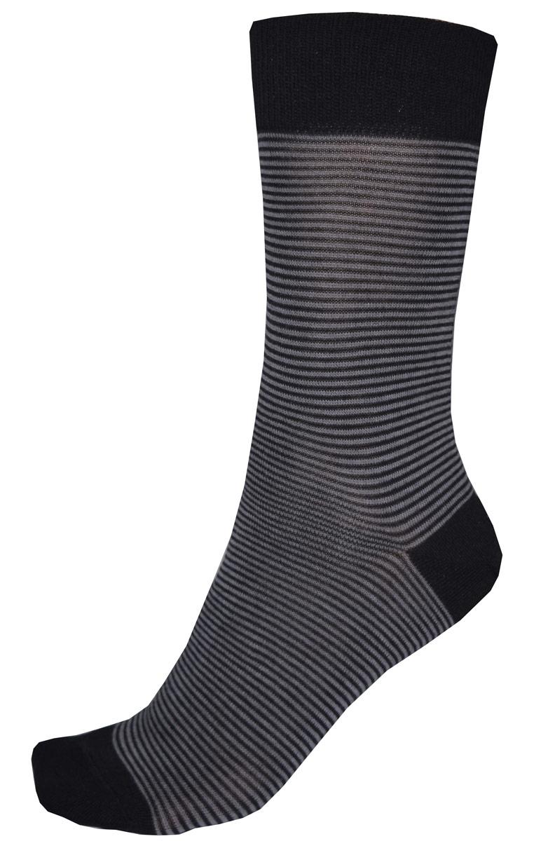 Носки мужские Burlesco, цвет: черный. C812. Размер 27 (41-42)C812Мужские носки Burlesco изготовлены из высококачественного хлопка с добавлением полиэстера, полиамида и эластана. Носки комфортно прилегают к ноге без образования складок. Идеальны для повседневной носки. Изделие оснащено широкой эластичной мягкой резинкой. Мысок и пятка усилены. Оформлены узором в виде полос.