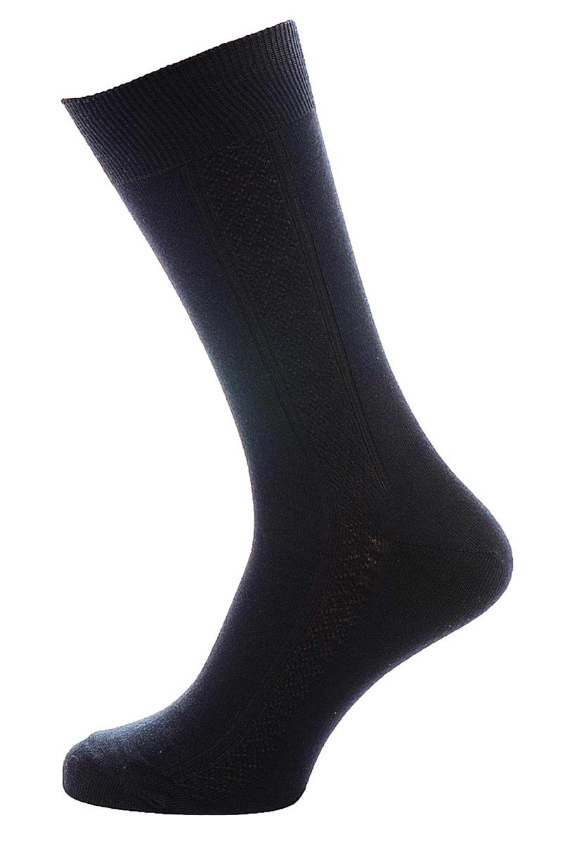 Носки мужские Burlesco, цвет: черный. C119. Размер 25 (39-40)C119Мужские носки Burlesco изготовлены из высококачественного хлопка с добавлением полиамидных волокон. Носки комфортно прилегают к ноге без образования складок. Идеальны для повседневной носки. Изделие оснащено широкой эластичной мягкой резинкой. Мысок и пятка усилены. Оформлены узором в виде ромбов.
