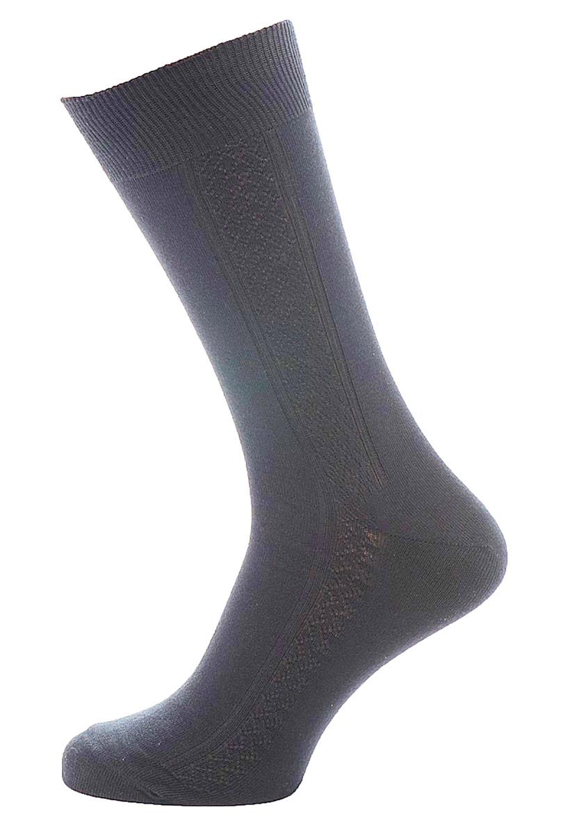 Носки мужские Burlesco, цвет: темно-серый. C119. Размер 31 (45-46)C119Мужские носки Burlesco изготовлены из высококачественного хлопка с добавлением полиамидных волокон. Носки комфортно прилегают к ноге без образования складок. Идеальны для повседневной носки. Изделие оснащено широкой эластичной мягкой резинкой. Мысок и пятка усилены. Оформлены узором в виде ромбов.