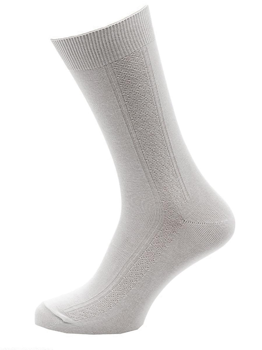 Носки мужские Burlesco, цвет: серый. C119. Размер 31 (45-46)C119Мужские носки Burlesco изготовлены из высококачественного хлопка с добавлением полиамидных волокон. Носки комфортно прилегают к ноге без образования складок. Идеальны для повседневной носки. Изделие оснащено широкой эластичной мягкой резинкой. Мысок и пятка усилены. Оформлены узором в виде ромбов.