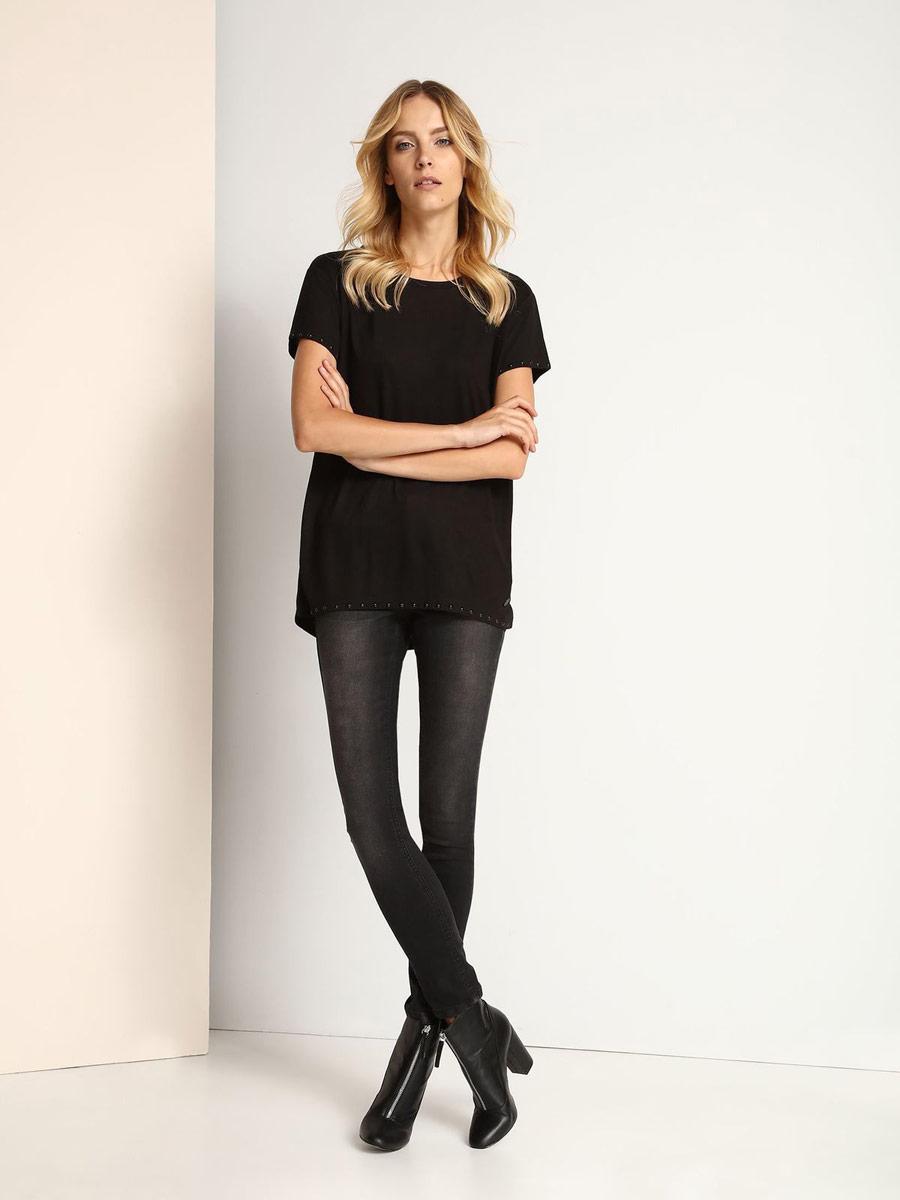 Джинсы женские Top Secret, цвет: темно-серый. SSP2359SZ. Размер 38 (44)SSP2359SZСтильные женские джинсы Top Secret выполнены из хлопка с добавлением полиэстера и эластана. Материал мягкий и приятный на ощупь, не сковывает движения и позволяет коже дышать.Джинсы-слим средней посадки застегиваются на пуговицу в поясе и ширинку на застежке-молнии. На поясе предусмотрены шлевки для ремня. Спереди модель оформлена двумя втачными карманами и одним маленьким накладным кармашком, а сзади - двумя накладными карманами. Модель оформлена эффектом потертости и перманентными складками.