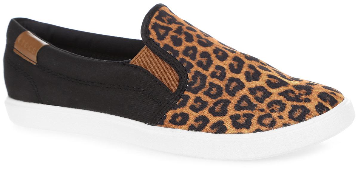Слипоны женские Crocs CitiLane Slip-on Sneaker W, цвет: черный, коричневый. 203545-95K. Размер 11 (41)203545-95KУдобные и стильные слипоны выполнены из плотного текстиля. Внутренняя отделка из мягкого текстиля обеспечит комфорт. Благодаря эластичным резинкам на подъеме слипоны легко надевать. Стелька выполнена из мягкого ЭВА-материала с текстильной поверхностью. Рельефная подошва обеспечивает хорошее сцепление на любых поверхностях.