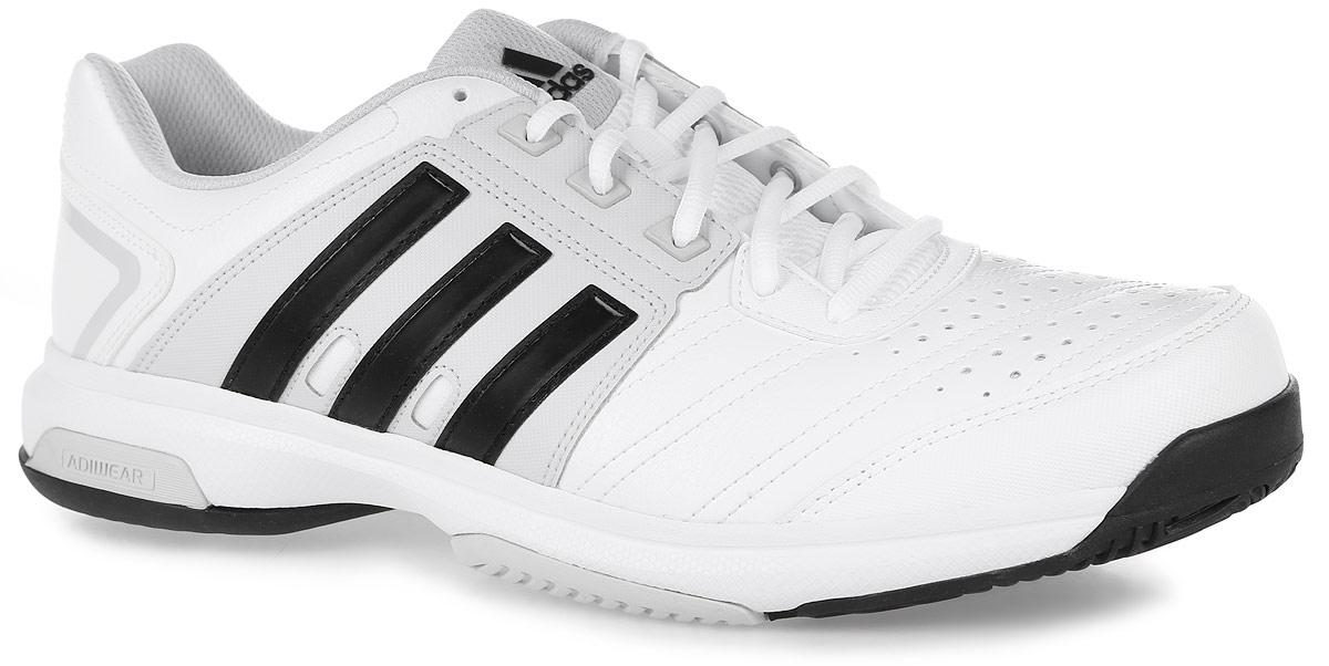 Кроссовки мужские adidas Barricade Approach , цвет: белый, серый. AQ2279. Размер 13 (47)AQ2279Мужские кроссовки Barricade Approach от adidas - это удобство и функциональность в стильном дизайне. Надежный гибкий верх выполнен из износостойкой искусственной кожи и дополнен фирменными полосками бренда по бокам.Износостойкая подошва Adiwear 6 и вставка ADIPRENE+ для потрясающей маневренности. Классическая шнуровка надежно зафиксирует модель на ноге.