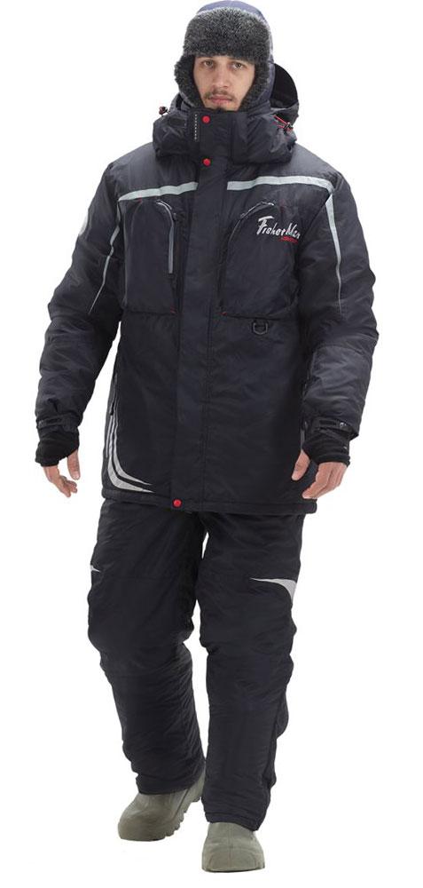 Костюм рыболовный мужской FisherMan Nova Tour Салмон V2, цвет: черный. 95846-901. Размер XXXL (58)95846-901Активная рыбалка в холодное время года - вот девиз этого костюма! Все максимально настроено на сохранение тепла, максимальный комфорт и подвижность! Этот костюм был проверен в водомоторных соревнованиях поздней осенью, командой по зимней блесне и конечно - же сотнями любителей зимнего спиннинга!Большие нагрудные карманы вместят коробки с приманками, высокий воротник и анатомический капюшон защитят в любой ветер, а мембранная ткань и высокотехнологичный утеплитель защитят от осадков и согреют от холода!Влагостойкость: 10000 мм. Паропроницаемость: 10000 мл./м.кв./24часа.