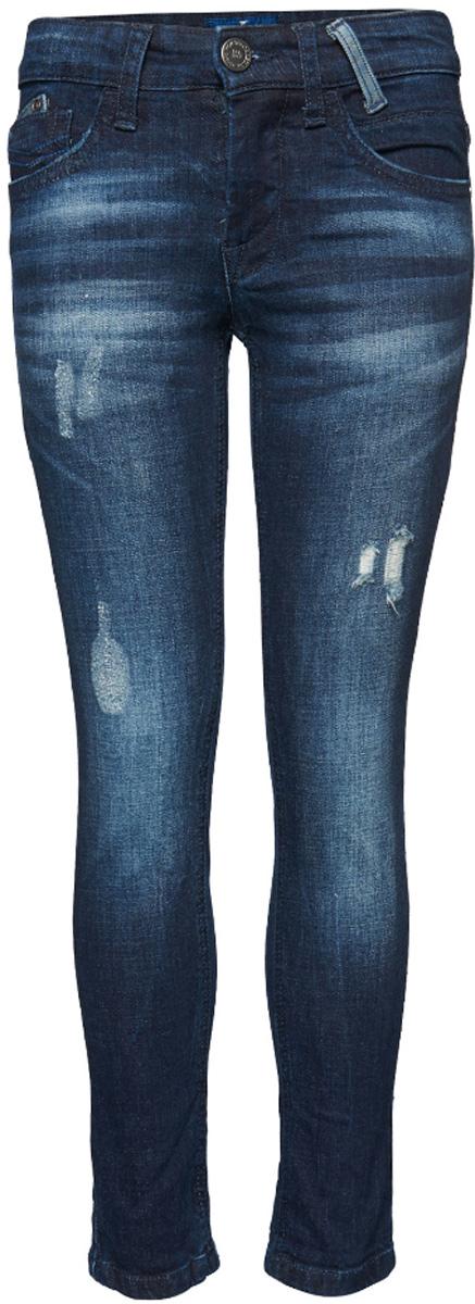 Джинсы для мальчика Tom Tailor, цвет: темно-синий. 6205111.00.30_1000. Размер 1586205111.00.30_1000Стильные джинсы Tom Tailor выполнены из высококачественного материала. Модель на талии застегивается на металлическую пуговицу и имеет ширинку на застежке-молнии, а также шлевки для ремня. Джинсы имеют классический пятикарманный крой: спереди два втачных кармана и один накладной кармашек, а сзади - два накладных кармана. Оформлено изделие дырками и потертостями.