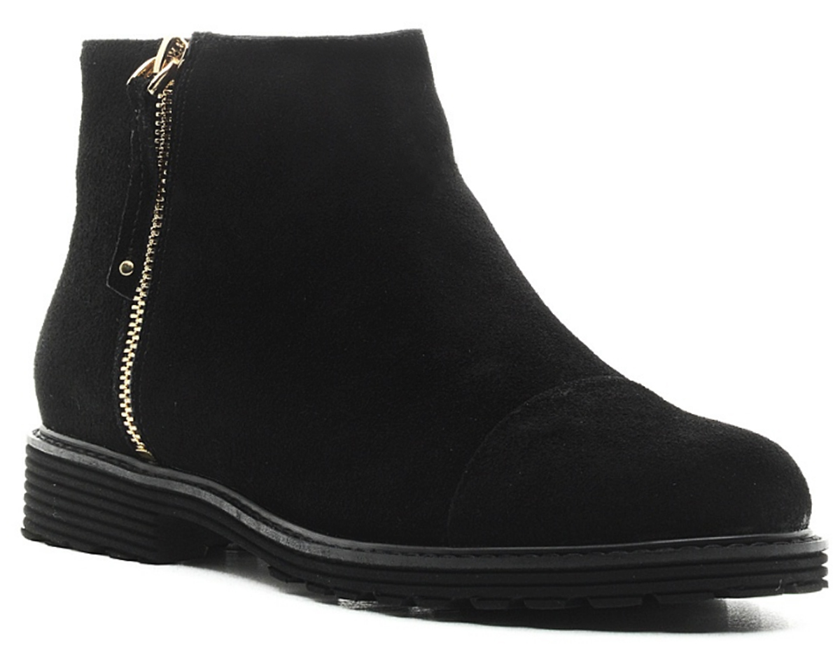 Ботинки женские Cooper, цвет: черный. 16827Z-1-1L. Размер 3916827Z-1-1LСтильные женские ботинки Cooper дополнены застежкой-молнией. Подошва оснащена рифлением. Такие ботинки отлично подойдут для тех, кто хочет подчеркнуть свою индивидуальность.