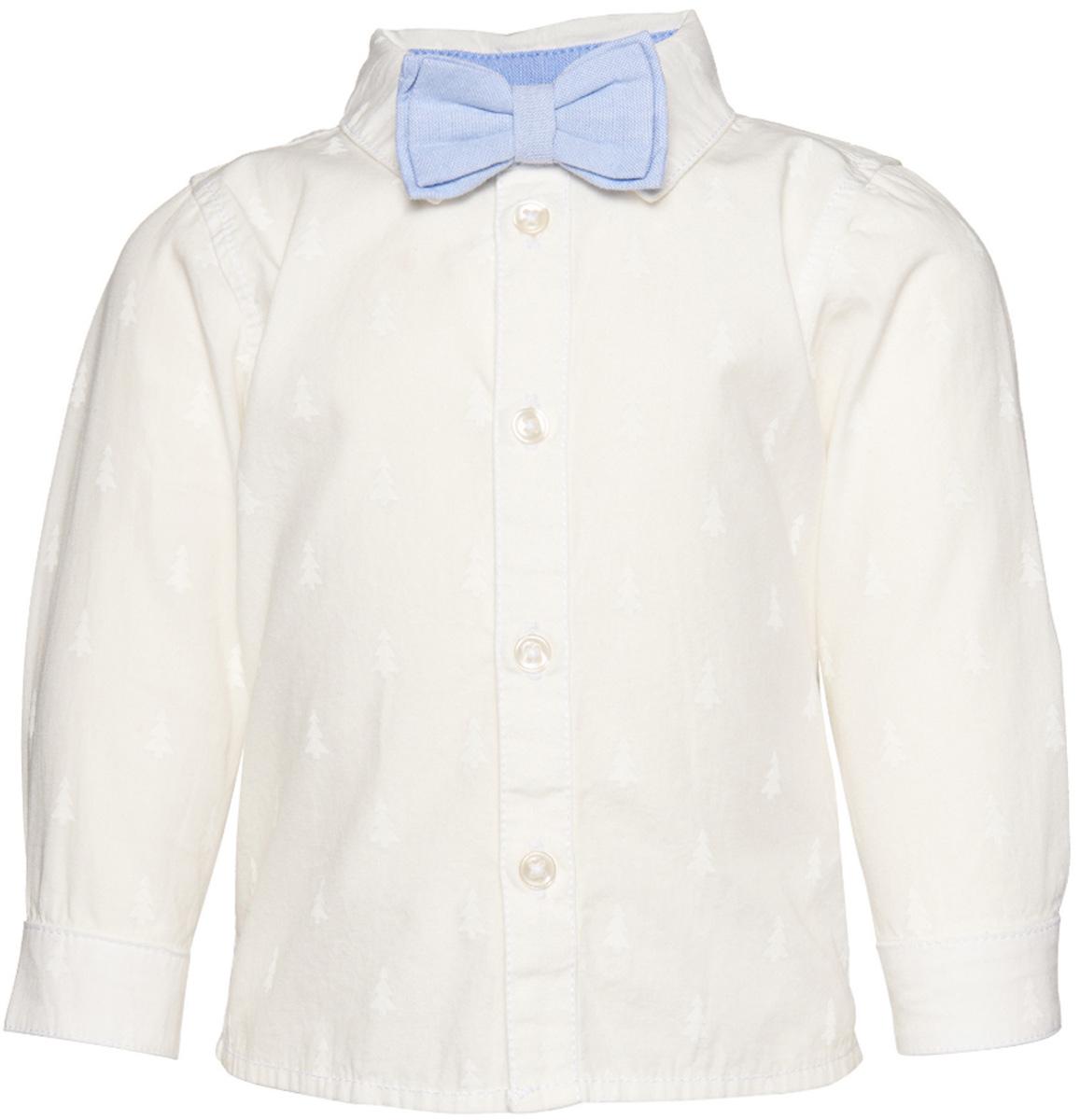 Рубашка для мальчика Tom Tailor, цвет: белый. 2032499.40.22_2067. Размер 74