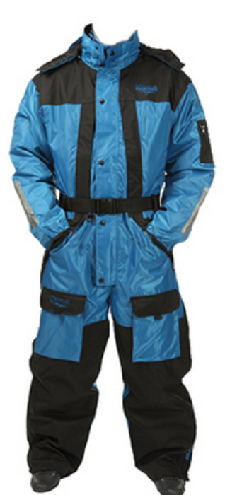 Комбинезон рыболовный Asseri Coverall (до -20С), цвет: синий, черный. 1001-1001. Размер M (48/50)1001Универсальный костюм-комбинезон Asseri Coverall отлично защитит от влаги и холода людей, предпочитающих зимние походы, рыбалку, активный досуг на природе.Модель используется до температуры -20°C, надежно сохраняя тепло.Комбинезон изготовлен из водонепроницаемого (5000 гр/м2 /24 часа) материала Oxford Neylon.Предусмотрена теплая подкладка (160 г, полиэстер). Боковая молния во всю длину брючин, затягивающийся низ, талия и эластичные манжеты. Есть множество карманов, съемный капюшон с регулируемым козырьком, удобный ремень. Неопреновая изоляция на коленях и сзади; швы герметично проклеены, молнии морозоустойчивы.Система вентиляции находится на спине. Возможность увеличения размера. Стильный, современный дизайн.Воздухопроницаемость: 5000 мм.