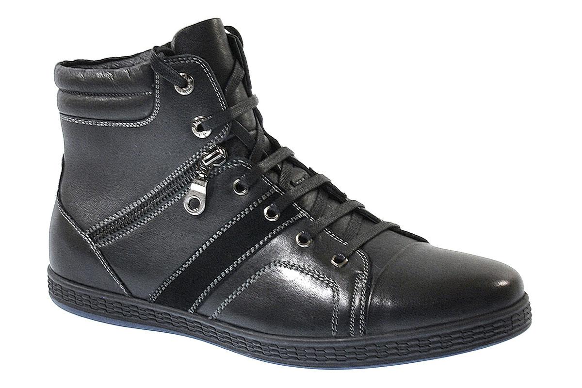 Ботинки мужские Vera Victoria Vito, цвет: черный. 9-413011-1. Размер 449-413011-1Модные мужские ботинки Vera Victoria Vito выполнены из натуральной кожи. Подкладка и стелька из натурального меха не дадут ногам замерзнуть. Шнуровка надежно зафиксирует модель на ноге. Боковая застежка-молния позволяет легко снимать и надевать модель. Подошва дополнена рифлением.