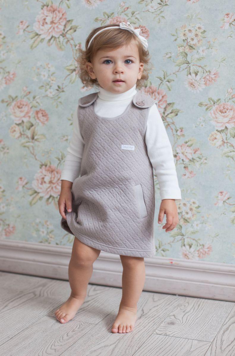 Платье для девочки Lucky Child Дуэт, цвет: бежевый. 33-66. Размер 74/8033-66Ультрасовременное платье без рукавов must have этого сезона. Оно органично смотрится на любом мероприятии и очень понравится вашей девочке. Добавьте в комплект белую водолазку и выходной наряд готов.