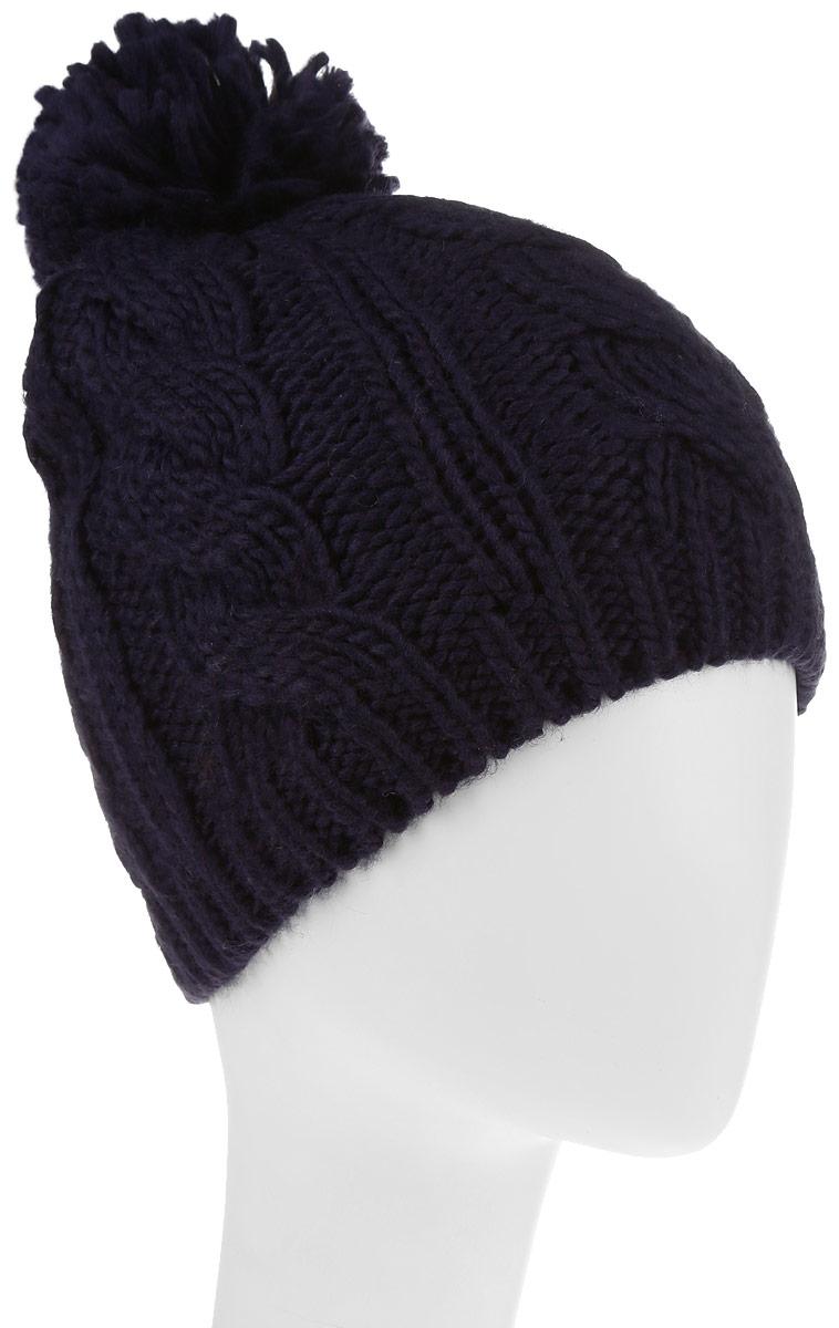 Шапка женская Avanta Nerina, цвет: сине-фиолетовый. 992175. Размер 58992175Стильная женская шапка Avanta дополнит ваш наряд и не позволит вам замерзнуть в холодное время года. Шапка выполнена из полиэстера с добавлением шерсти, что позволяет ей великолепно сохранять тепло, и обеспечивает высокую эластичность и удобство посадки. Изделие дополнено флисовой подкладкой и оформлено помпоном и металлической нашивкой с логотипом бренда. Такая шапка составит идеальный комплект с модной верхней одеждой, в ней вам будет уютно и тепло.