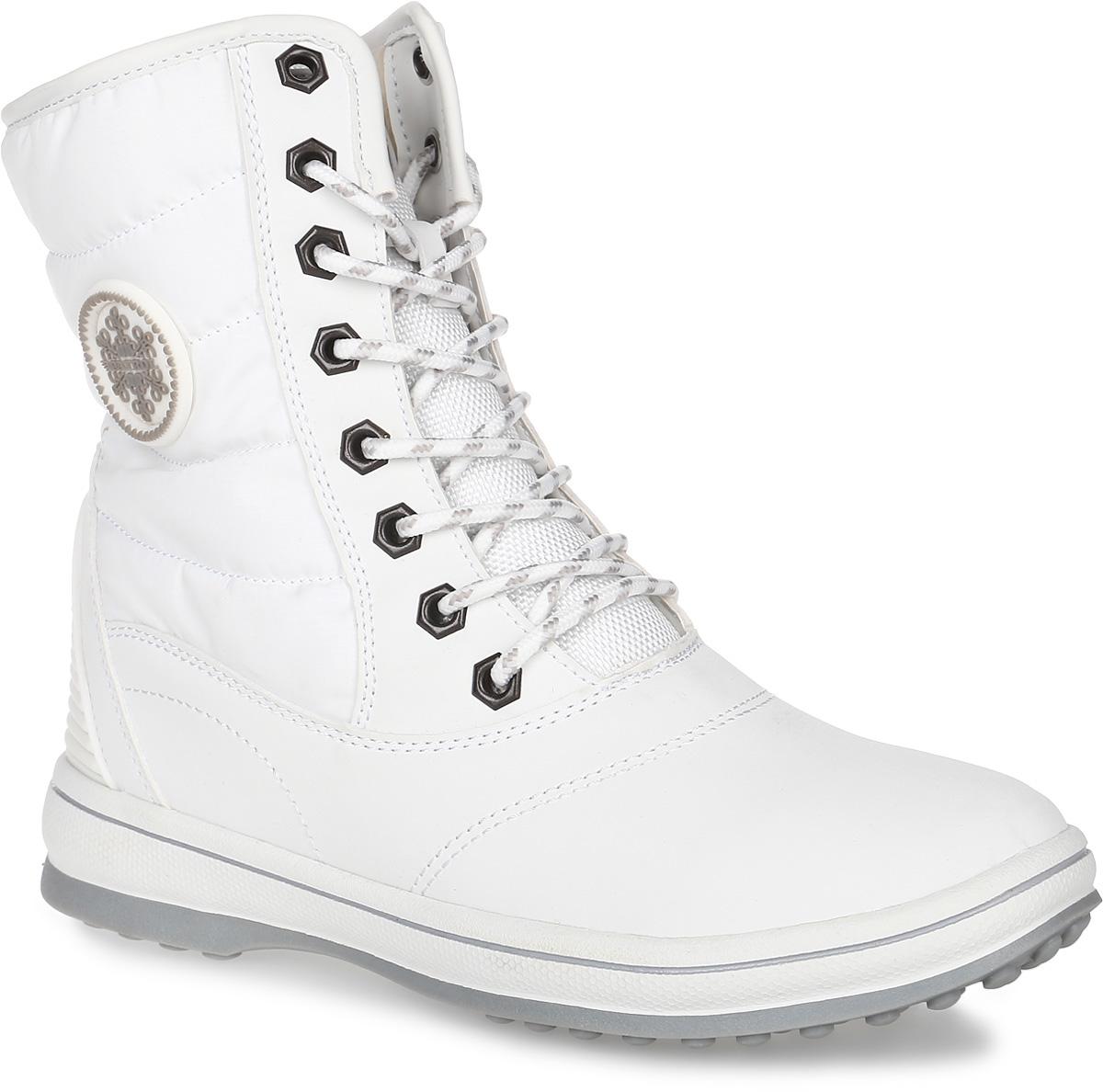 Ботинки женские Patrol, цвет: белый. 232-700PIM-17w-04-10. Размер 39232-700PIM-17w-04-10Женские ботинки от Patrol выполнены из комбинации искусственного нубука. Подкладка, исполненная из искусственного меха, сохранит ваши ноги в тепле. Съемная стелька EVA с поверхностью из искусственного меха обеспечивает отличную амортизацию и максимальный комфорт. Шнуровка позволяет оптимально зафиксировать модель на ноге. Резиновая подошва обеспечит надежное сцепление на любых поверхностях.