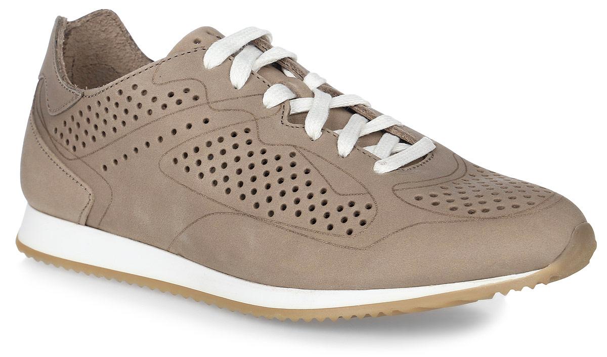 Кроссовки женские TBS Breaky, цвет: бежевый. BREAKY-5757. Размер 39 (38)BREAKY-5757Стильные женские кроссовки Breaky от TBS - модель для ценителей современной качественной обуви. Модель выполнена из натуральной кожи и дополнена перфорацией. Внутренняя поверхность и стелька из кожи обеспечат комфорт и уют вашим ногам. Подошва из прочного каучука гарантирует длительную носку и сцепление с любой поверхностью. Классическая шнуровка надежно фиксирует обувь на ноге.