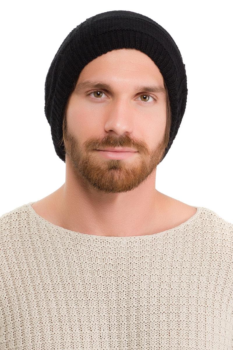 Шапка мужская Moltini, цвет: черный. 171B-1601. Размер 57/59171B-1601Вязаная мужская шапка Moltini выполнена из высококачественной пряжи из акрила и шерсти. Модель декорирована объемным вязаным узором в виде сетки.Уважаемые клиенты! Обращаем ваше внимание на тот факт, что размер, доступный для заказа, является обхватом головы.