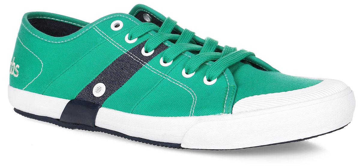 Кеды мужские TBS Henley, цвет: зеленый. HENLEY-5858. Размер 43 (42)HENLEY-5858Стильные мужские кеды Henley от TBS на широкую ногу - модель для ценителей современной качественной обуви. Модель выполнена из плотного высококачественного текстиля, мысок дополнен рифленой резиной. Внутренняя поверхность и стелька обеспечат комфорт и уют вашим ногам, а два отверстия сбоку отлично циркулируют воздух. Подошва из прочного каучука гарантирует длительную носку и сцепление с любой поверхностью. Классическая шнуровка надежно фиксирует обувь на ноге.