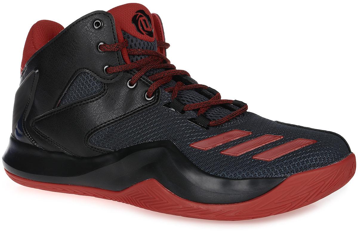 Кроссовки для баскетбола мужские adidas D Rose 773 V, цвет: черный, красный. AQ7222. Размер 10 (43)AQ7222Деррик Роуз продолжает доказывать, что его не остановят ни отчаянная защита соперников, ни травмы. Вдохновленные динамичным стилем его игры, мужские кроссовки D Rose 773 V от adidas обеспечат максимум сцепления и устойчивости для быстрых маневров и ярких пасов. Сетчатый верх сохраняет свежесть. Голенище средней высоты, пятка из термополиуретана и вставки из искусственной кожи гарантируют дополнительную поддержку стопы. Технология Bounce оптимизирует амортизацию, заряжая каждый шаг дополнительной энергией. Термополиуретановая вставка в средней части стопы увеличивает устойчивость и сопротивление скручиванию. Подошва с зигзагообразным рельефом обеспечивает отличное сцепление с поверхность. Классическая шнуровка надежно зафиксирует модель на ноге.