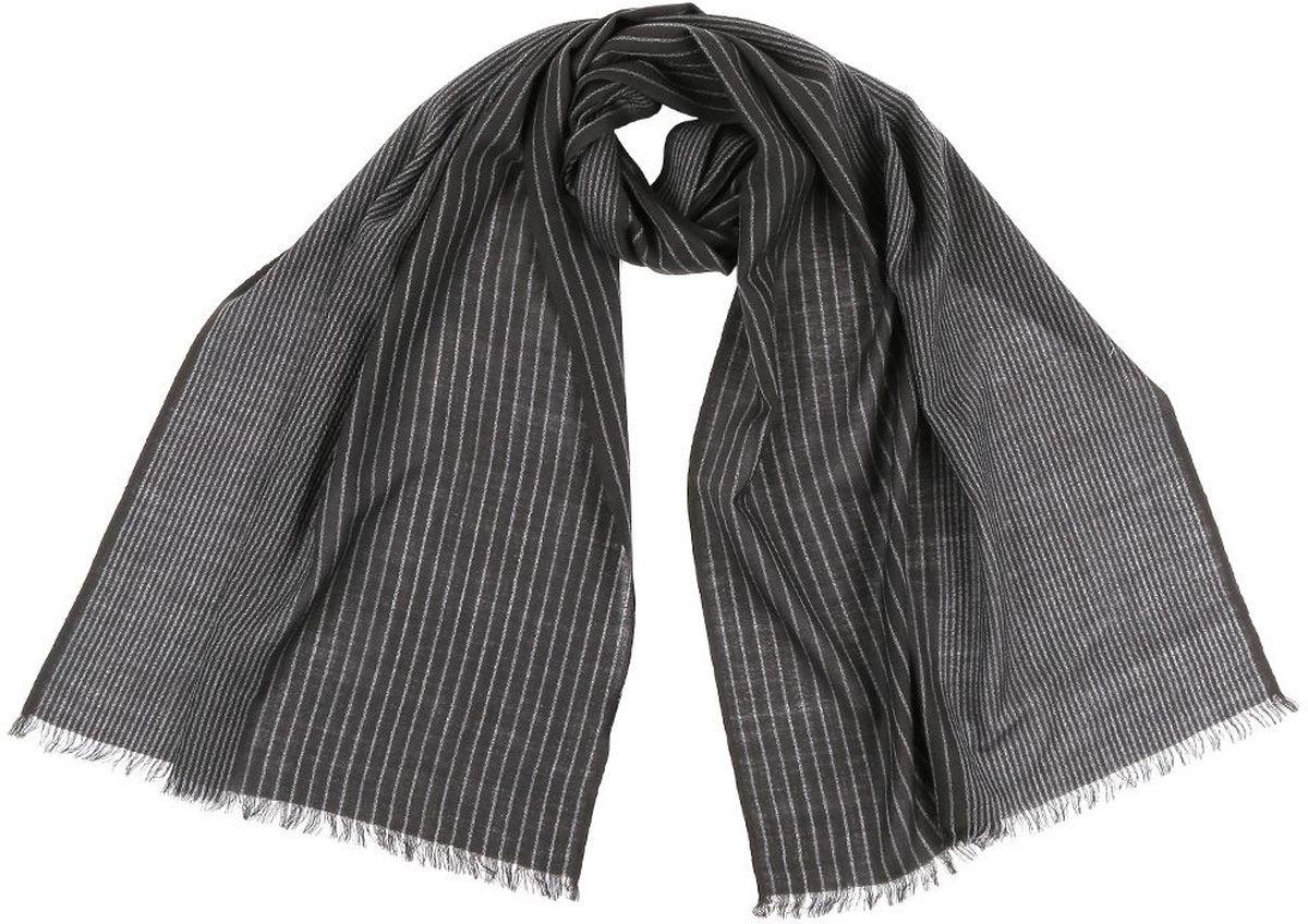 Шарф мужской Leo Ventoni, цвет: черный. YNNT2011102-3. Размер 189 см х 50 смYNNT2011102-3Теплый шерстяной шарф Leo Ventoni дополнит ваш повседневный образ.