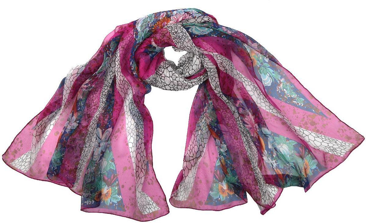 Палантин Leo Ventoni, цвет: розовый. CX1631-A. Размер 180 см х 90 смCX1631-AШелковый палантин Leo Ventoni станет для вас незабываемым подарком и стильным аксессуаром, подчеркивающим вашу индивидуальность.