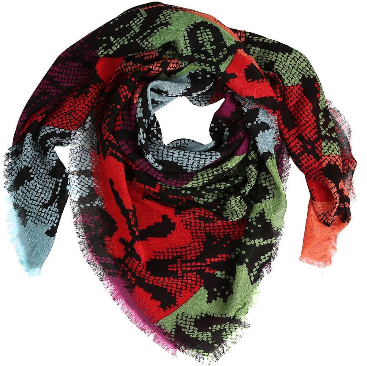 Платок Fabretti, цвет: красный, зеленый, черный. 28083-A. Размер 120 см х 120 см28083-AЖенский платок Fabretti - легкий и с приятной фактурой. Завершающий штрих при создании яркого образа.