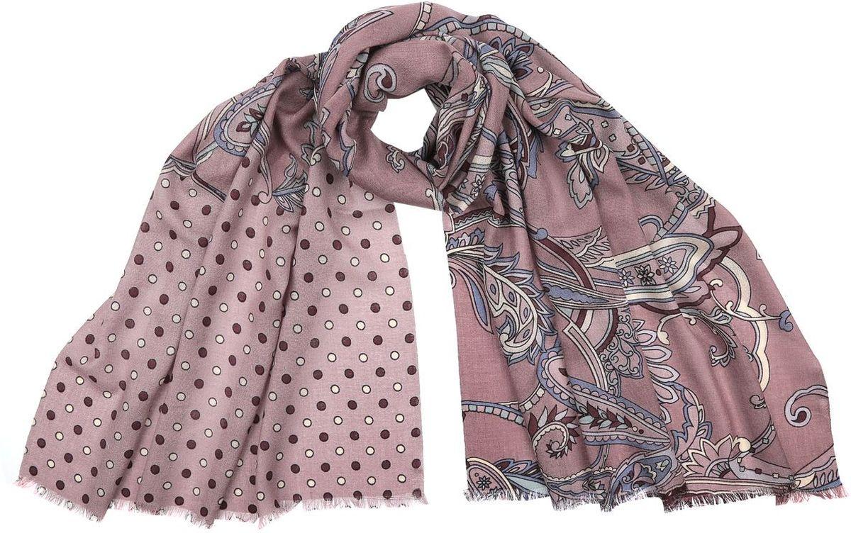 Шарф женский Fabretti, цвет: розовый. 3500-4. Размер 182 см х 70 см3500-4Потрясающий женский шарф Fabretti выполнен из шерсти и украшен актуальным этническим узором. Края модели оформлены коротенькой бахромой.Великолепный женский шарф Fabretti станет ярким акцентом однотонного демисезонного гардероба, а окружающие обязательно будут обращать свое восторженное внимание на вас.