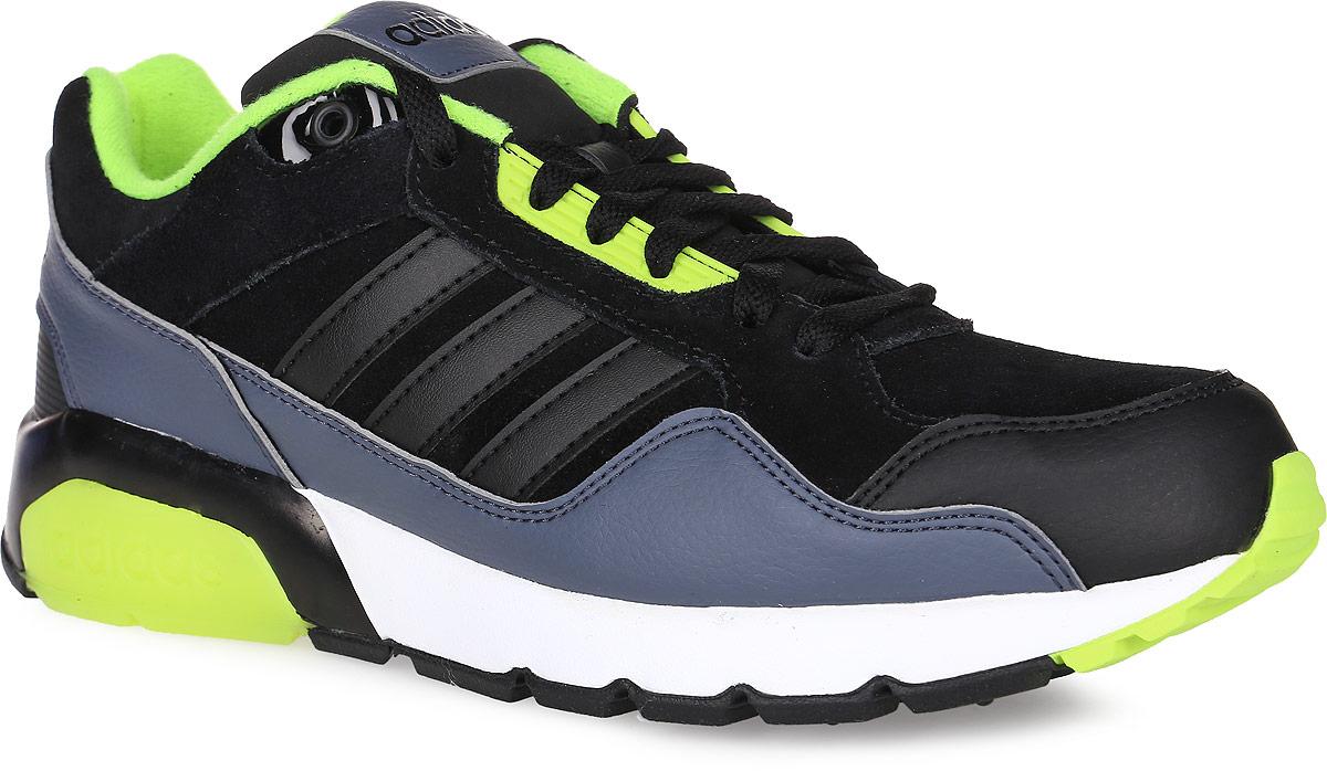 Кроссовки мужские adidas Neo Run9Tis, цвет: черный, салатовый. AW4788. Размер 8,5 (41)AW4788Модные мужские кроссовки Run9Tis от adidas Neo в классическом беговом стиле придутся вам по душе. Верх, выполненный из натурального нубука, дополнен вставками из искусственной кожи. Язычок и задник оформлены названием бренда. Подкладка из текстиля не натирает. Стелька из EVA с текстильной поверхностью комфортна при ходьбе в течение всего дня. Классическая шнуровка с литыми панелями надежно фиксирует модель на ноге. Легкая промежуточная подошва из материала EVA обладает высокой износостойкостью и обеспечивает идеальную амортизацию. Резиновая подошва с бороздками для сгиба гарантирует идеальное сцепление с любыми поверхностями. Подошва оформлена контрастной прорезиненной вставкой с названием бренда. В таких кроссовках вашим ногам будет комфортно и уютно.