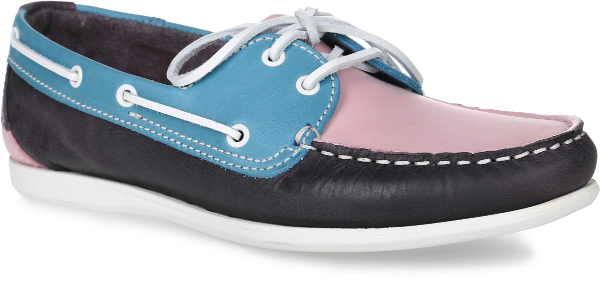 Топсайдеры женские TBS Pretty, цвет: темно-синий, розовый, голубой. PRETTY-4796. Размер 40 (39)PRETTY-4796Стильные женские топсайдеры Pretty от TBS комфортно и уверенно сидят на ноге. Модель выполнена в контрастных сочетаниях цветов из натуральной кожи, мысок прострочен, по бокам модель украшена декоративным шнурком. Верх модели регулируется шнуровкой. Внутренняя поверхность и стелька из кожи обеспечат комфорт и уют вашим ногам. Подошва из прочного каучука гарантирует длительную носку и сцепление с любой поверхностью.