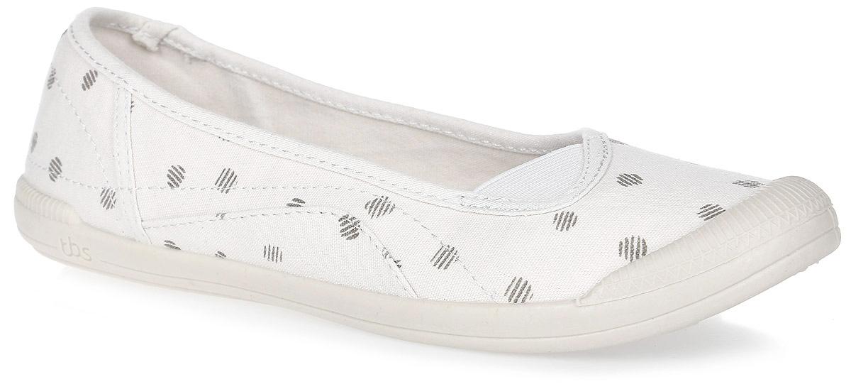 Балетки TBS Kefirs, цвет: белый. KEFIRS-5757. Размер 37 (36)KEFIRS-5757Стильные балетки Kefirs от TBS - модель для ценителей современной качественной обуви. Модель выполнена из плотного высококачественного текстиля и декорирована оригинальным принтом, мысок дополнен резиной. Внутренняя поверхность и стелька из кожи обеспечат комфорт и уют вашим ногам. Подошва из прочного каучука гарантирует длительную носку и сцепление с любой поверхностью.
