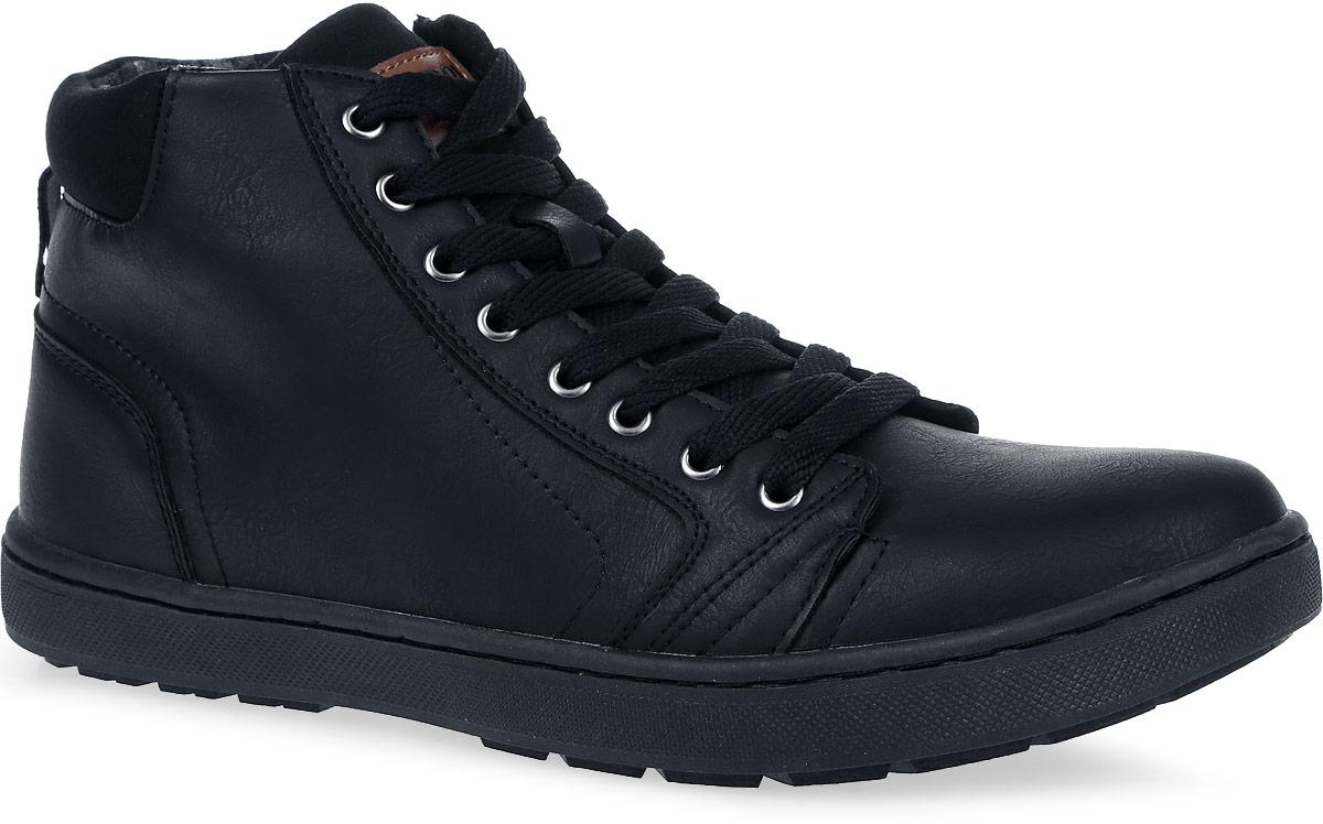 Ботинки мужские Patrol, цвет: черный. 457-805IM-17w-01-1. Размер 40457-805IM-17w-01-1Мужские ботинки от Patrol выполнены из искусственной кожи и оформлены на язычке нашивкой с фирменным логотипом бренда. Подкладка, исполненная из искусственного меха, сохранит ваши ноги в тепле. Съемная стелька EVA с поверхностью из искусственного меха обеспечивает отличную амортизацию и максимальный комфорт. Шнуровка позволяет оптимально зафиксировать модель на ноге. Резиновая подошва обеспечит надежное сцепление на любых поверхностях.
