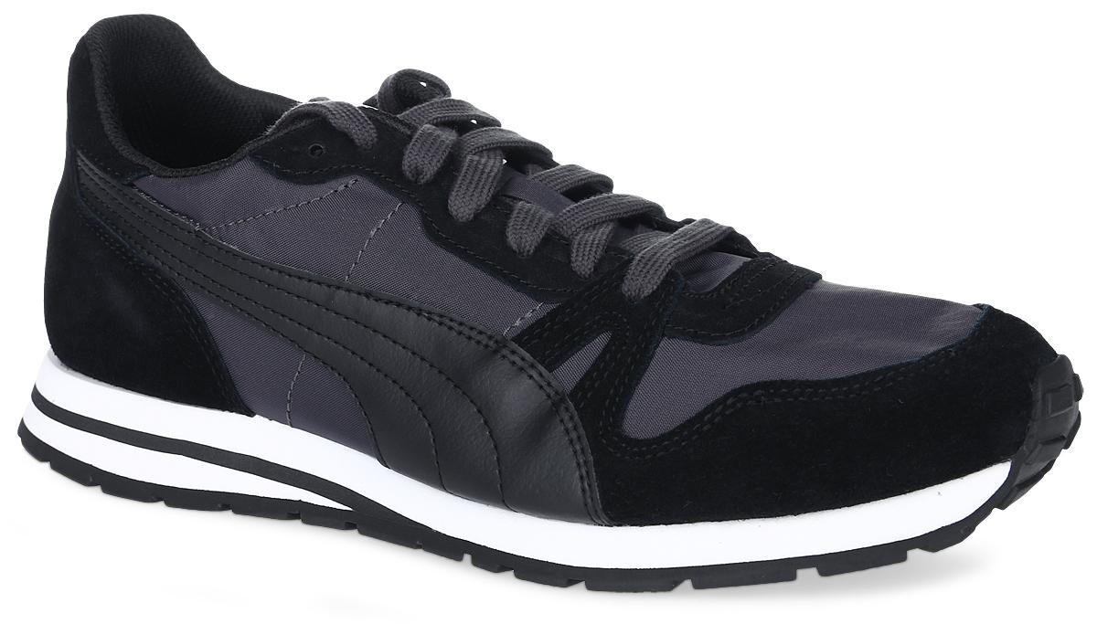Кроссовки мужские Puma Yarra Classic, цвет: черный. 36140301. Размер 10,5 (44)36140301В модели кроссовок Yarra Classic от Puma за основу взят классический дизайн Duplex и функциональные элементы, характерные для беговой обуви 1980-х. Верх изделия - это сочетание нейлона и замши, что сохраняет все признаки классической спортивной обуви, и при этом прекрасно подходит для повседневной носки. Классическая шнуровка надежно фиксирует изделие на ноге. Прочная подошва с рифлением гарантирует сцепление с любой поверхностью. Такие кроссовки отлично подчеркнут ваш спортивный образ. Прекрасный выбор для тех, кто ищет стильную обувь.