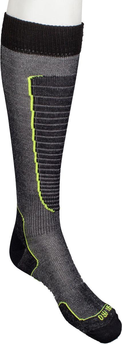 Носки горнолыжные Mico, цвет: черный, желтый. 230_604. Размер M (38/40)230_604Итальянская компания Mico один из ведущих производителей носков и термобелья на Европейском рынке для спортом. Носки предназначены для для занятий различными видами в том числе для носки в городе в очень холодную погоду. Носок очень мягкий. Идеально подходит для горнолыжных ботинок с термо-формовкой. Дополнительная защита голени. Мягкая резинка по верху носка не сжимает ногу и не дает ощущения сдавливания даже при длительном использовании. Специальное плетение в области стопы фиксирует ногу при занятиях спортом и ходьбе и не дает скользить стопе вперед.