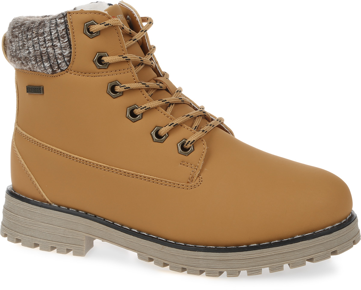Ботинки женские Strobbs, цвет: коричневый. F8158-12. Размер 36F8158-12Стильные женские ботинки Strobbs, выполненные в спортивном стиле, прекрасно подойдут для активного отдыха и повседневной носки. Верх изготовлен из микрофибры и оформлен вставками из текстиля. Подкладка из искусственной шерсти не даст ногам замерзнуть. Удобная шнуровка надежно зафиксирует модель на стопе. Резиновая подошва с крупным протектором обеспечит хорошее сцепление с любой поверхностью. Модель маломерит на 1 размер. В таких ботинках вашим ногам будет тепло и комфортно.