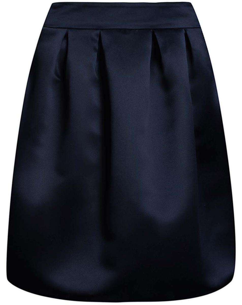Юбка oodji Ultra, цвет: темно-синий. 11600388-4/24393/7900N. Размер 38 (44-170)11600388-4/24393/7900NСтильная юбка oodji Ultra выполнена из высококачественного полиэстера. Модель-миди декорирована складками, дополнена потайной застежкой-молнией сзади и прорезными карманами по боковым сторонам. Оформлена юбка в лаконичном дизайне.