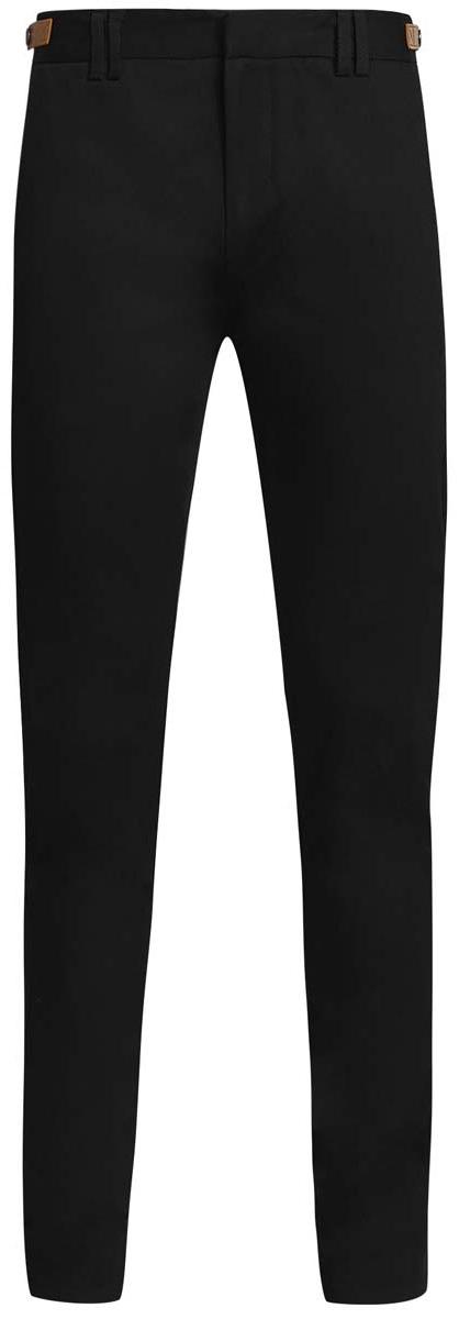 Брюки мужские oodji Lab, цвет: черный. 2L210182M/39786N/2900N. Размер 44-182 (52-182)2L210182M/39786N/2900NСтильные мужские брюки oodji Lab выполнены из хлопка с добавлением полиуретана. Модель-слим стандартной посадки застегивается на крючок в поясе и ширинку на застежке-молнии, с внутренней стороны - на пуговицу. Пояс имеет шлевки для ремня. По бокам пояс регулируется с помощью ремешков с кнопками. Спереди изделие дополнено двумя втачными карманами и одним маленьким прорезным кармашком, сзади - двумя прорезными карманами, которые закрываются на клапаны.