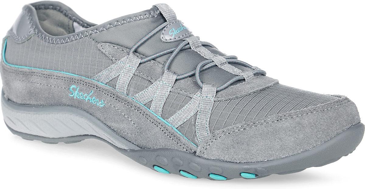 Кроссовки женские Skechers Breathe-Easy – Big-Break, цвет: серый. 22515-GRY. Размер 8 (39)22515-GRYСтильные женские кроссовки Breathe-Easy - Big-Break от Skechersпредназначены для занятий спортом и активного отдыха. Модель с технологией Relaxed Fit выполнена из натуральной замши с комбинацией из текстиля. Основные отличительные черты данной обуви - комфортная стелька с эффектом памяти Memory Foam, которая будет повторять форму стопы и увеличенное носочное пространство для дополнительного удобства. Эластичная шнуровка надежно фиксирует модель на ноге.