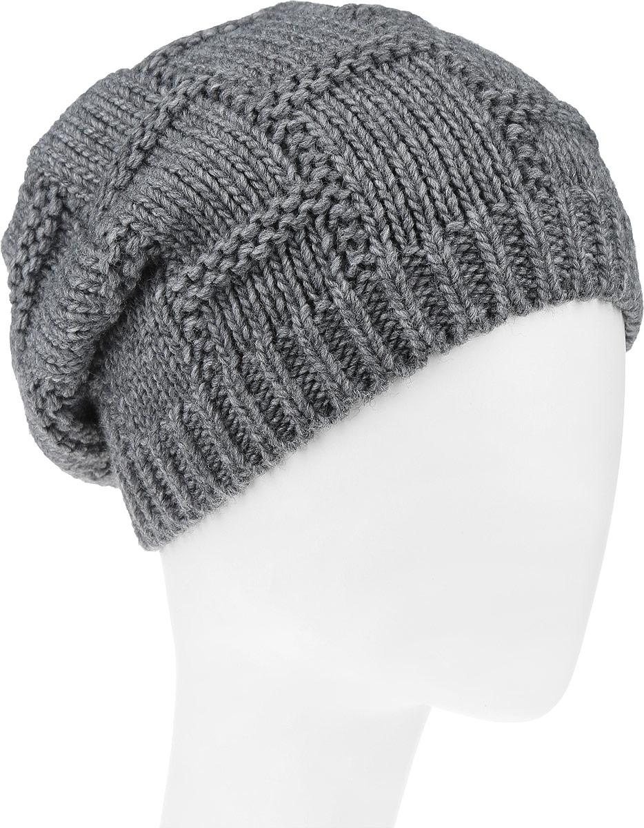 Шапка женская Leighton Trend, цвет: серый. 4-078. Размер 56/584-078Женская шапка Leighton Trend изготовлена из шерсти с добавлением акрила. Модель оформлена объемной вязкой и по низу дополнена вязаной резинкой. Уважаемые клиенты!Размер, доступный для заказа, является обхватом головы.
