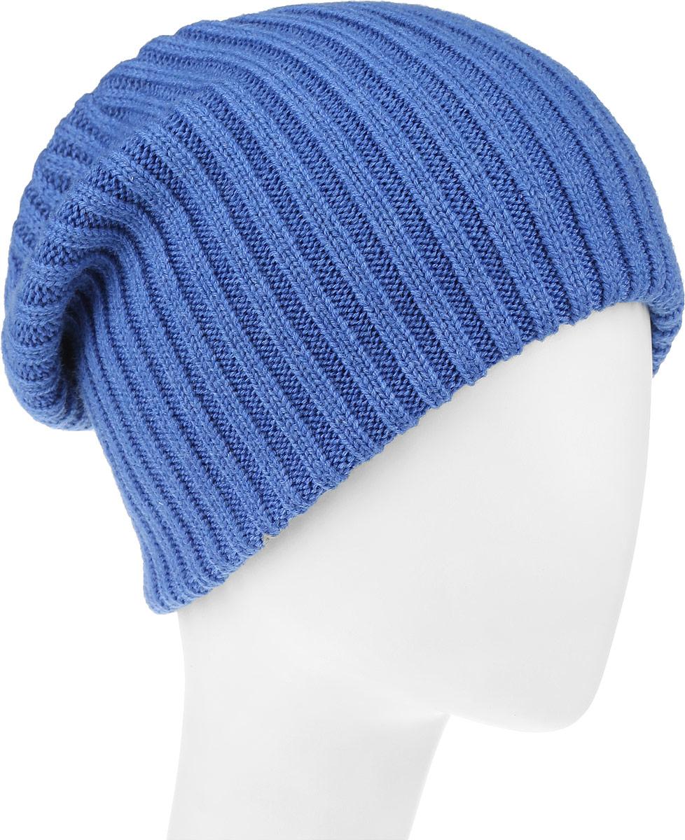 Шапка женская Leighton Trend, цвет: синий. 4-075. Размер 56/584-075Женская шапка Leighton Trend изготовлена из шерсти с добавлением акрила. Модель оформлена вертикальной вязкой. Уважаемые клиенты!Размер, доступный для заказа, является обхватом головы.