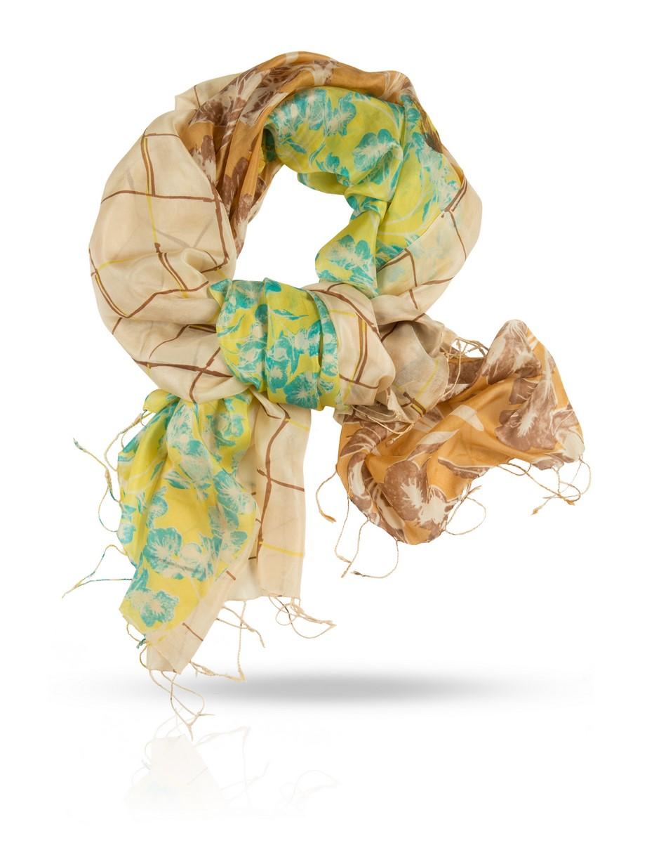 Палантин Michel Katana, цвет: салатовый, коричневый. S-4SEASON. Размер 110 см х 180 смS-4SEASON/ENG.ROSEИзысканная нежность 100% шелка Mulberry и свежая, яркая палитра делают этот тончайший шелковый палантин настоящим магнитом для каждой женщины. Этот палантин создан для того, чтобы сделать вас настоящей красавицей, подчеркнув именно ваши оттенки кожи, глаз и волос. Испытайте на себе магию французского шика от Michel Katana!