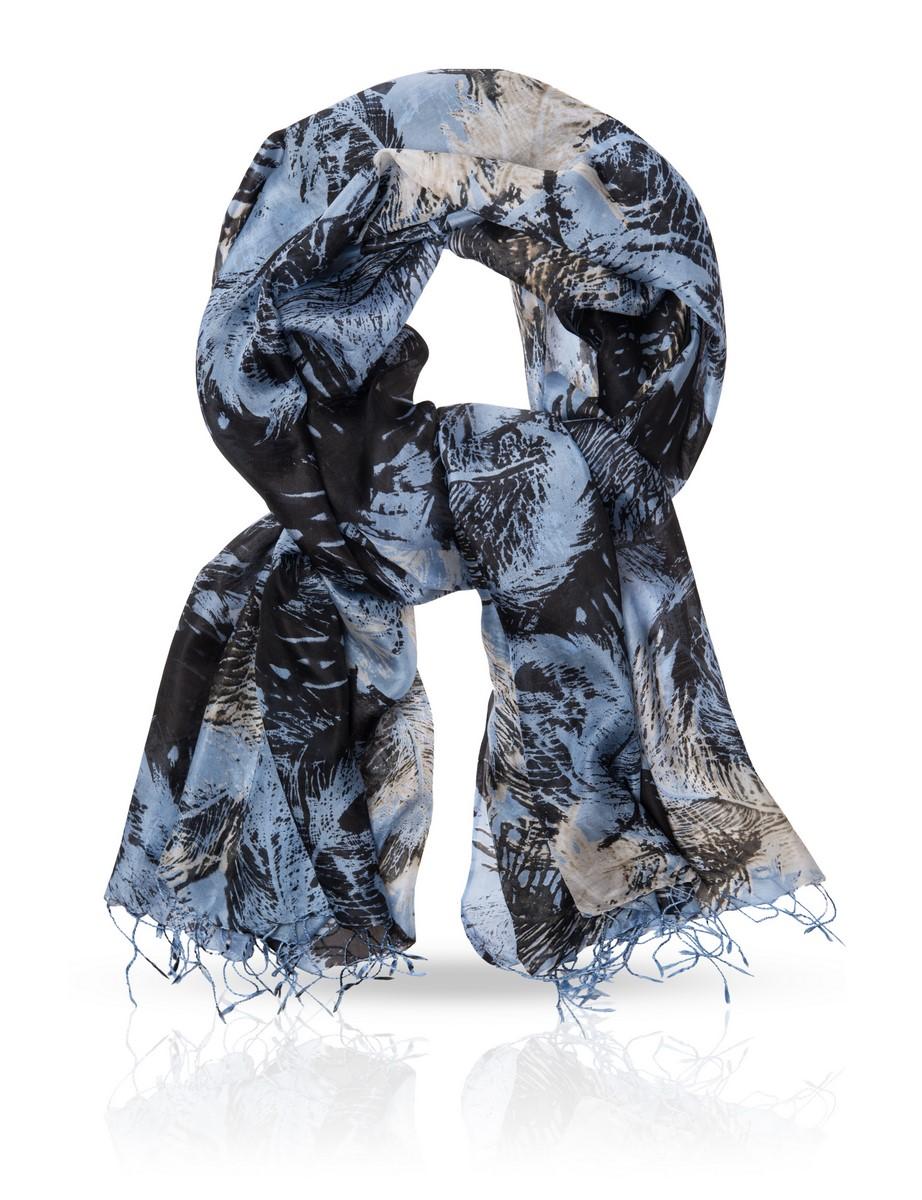 Палантин Michel Katana, цвет: бирюзовый, синий. S-SPLASH.BIRD. Размер 110 см х 180 смS-SPLASH.BIRD/BLUEПалантин выполнен из высококачественного материала и оформен оригинальным узором.