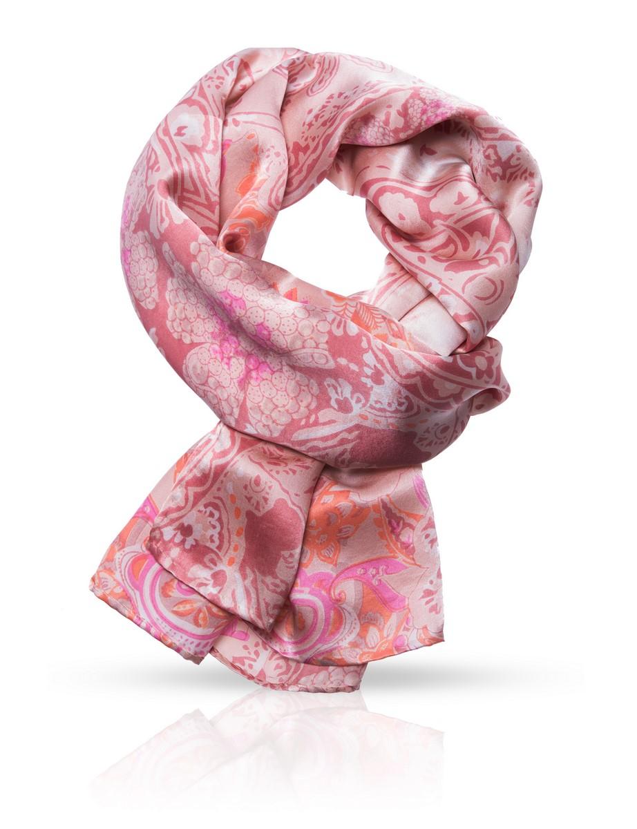 Платок Michel Katana, цвет: бежевый, розовый. SS.KV-ANIM.PAIS. Размер 90 см х 90 смSS.KV-ANIM.PAIS/PEACH.ORИзящный узор совмещен с легкостью натурального шелка, из которого изготовлен этот аксессуар. Он продемонстрирует тонкость натуры и создаст отличное настроение.