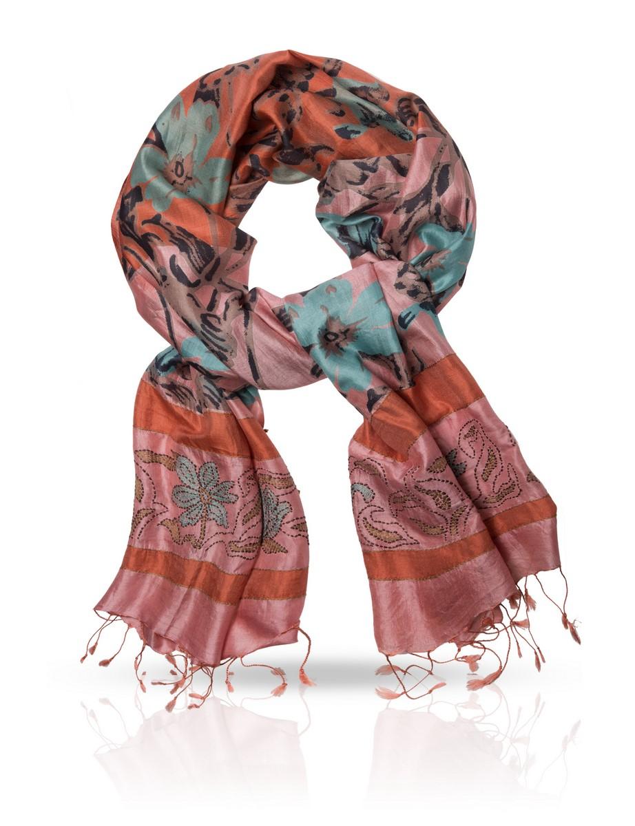 Шарф Michel Katana, цвет: коричневый, розовый. SN.SH-EMB. Размер 60 см х 180 смSN.SH-EMB/GСтильный шарф Michel Katana станет отличным завершением вашего образа. Шарф изготовлен из 100%-го шелка. Материал мягкий и приятный на ощупь, хорошо драпируется. Края палантина декорированы кисточками, скрученными в жгутики.Этот модный аксессуар гармонично дополнит любой наряд и подчеркнет ваш изысканный вкус.