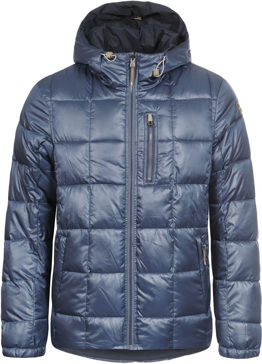 Куртка мужская Icepeak Trevor, цвет: темно-синий. 656057507IV. Размер XS (46)656057507IV_371Мужская двусторонняя куртка Icepeak Trevor выполнена из полиэстера, утеплена наполнителем FinnWad. Одна сторона куртки имеет гладкую поверхность и оформлена стеганым узором, другая - матовая и имеет слегка шероховатую текстуру. Куртка с несъемным капюшоном застегивается на удобную застежку-молнию спереди. Капюшон дополнен шнурком-кулиской со стопперами. Рукава оснащены эластичными манжетами. Куртка имеет два втачных кармана на застежках-молниях с одной стороны и три втачных кармана на застежках-молниях с другой. Обхват низа модели регулируется при помощи внутреннего шнурка-кулиски со стопперами.