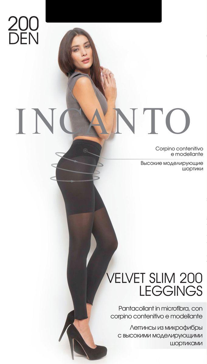 Леггинсы женские Incanto Velvet Slim 200, цвет: Nero (черный). 21312. Размер 221312Леггинсы Incanto Velvet Slim 200 изготовлены из эластичного полиамида. Комфортные леггинсы с высокими моделирующим шортиками корректируют фигуру в области бедер, ягодиц и живота. Модель дополнена гигиенической ластовицей из хлопка и имеет комфортный широкий пояс.Плотность: 200 den.