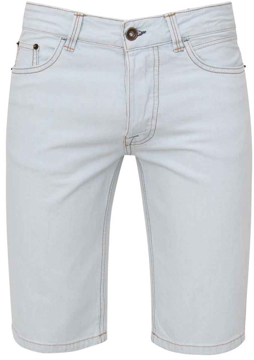 Шорты мужские oodji, цвет: голубой джинс. 6L210015M/39644N/7000W. Размер 34-34 (54-34)6L210015M/39644N/7000WСтильные и практичные мужские джинсовые шорты oodji выполнены из натурального хлопка. Шорты застегиваются на металлические пуговицы. На поясе расположены шлевки для ремня. Шорты имеют классический пятикарманный крой, они оснащены двумя втачными карманами и небольшим накладным кармашком спереди, и двумя втачными карманами сзади.